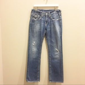 True Religion Distressed Straight Leg Jeans 👖